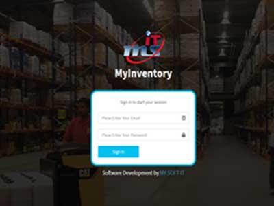 Inventory Software demo login page